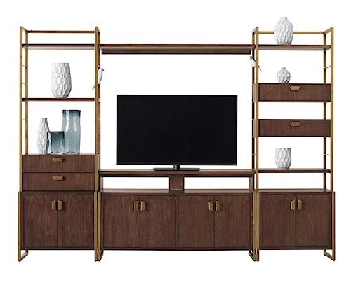 Pulaski Furniture Modern Harmony Mid Century Modern Entertainment Wall Console