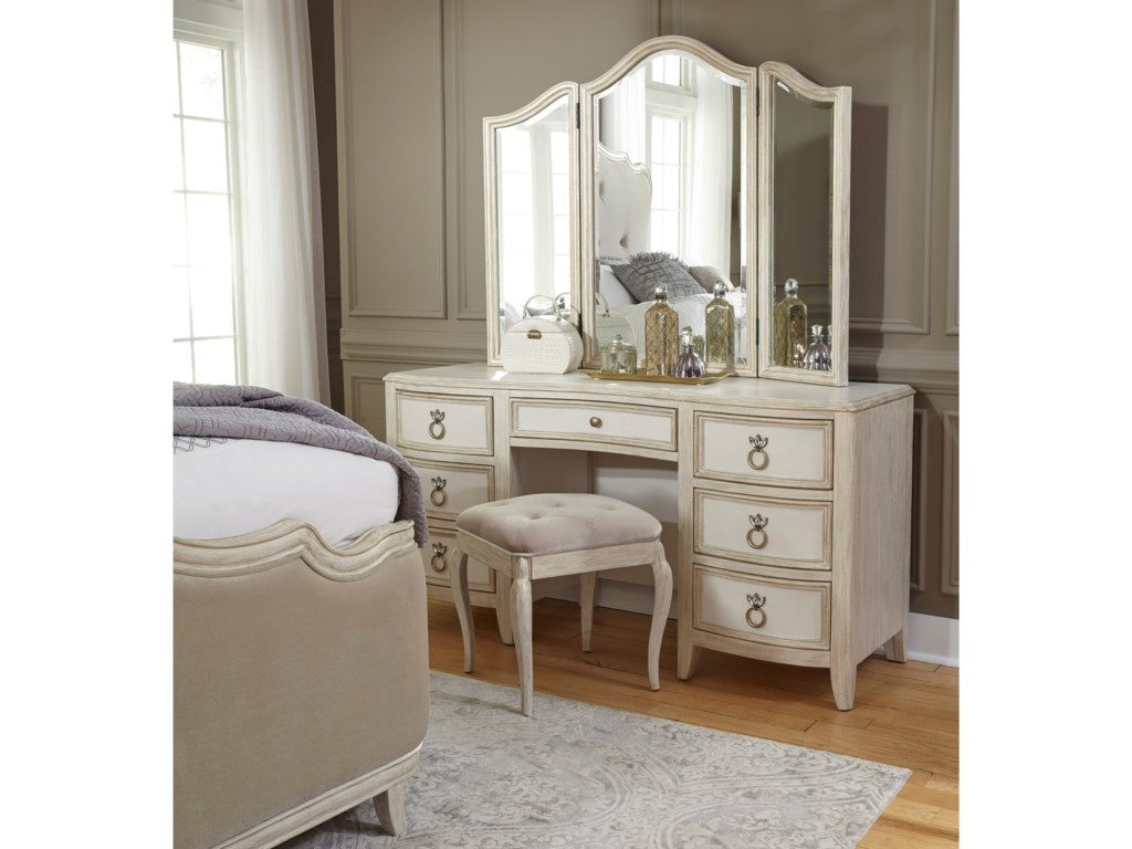 Pulaski Furniture ReeceVanity and Mirror Set