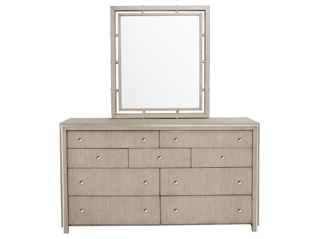 Pulaski Furniture Sutton PlaceDresser and Mirror