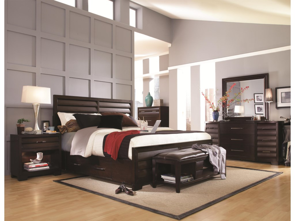 Shown with Bed, Nightstand, and Mirror