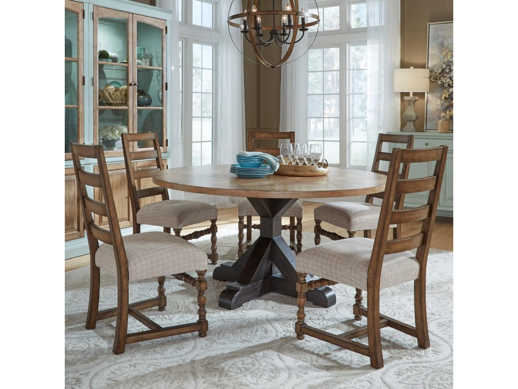 Pulaski Furniture The Art of Dining6-Piece Table and Chair Set