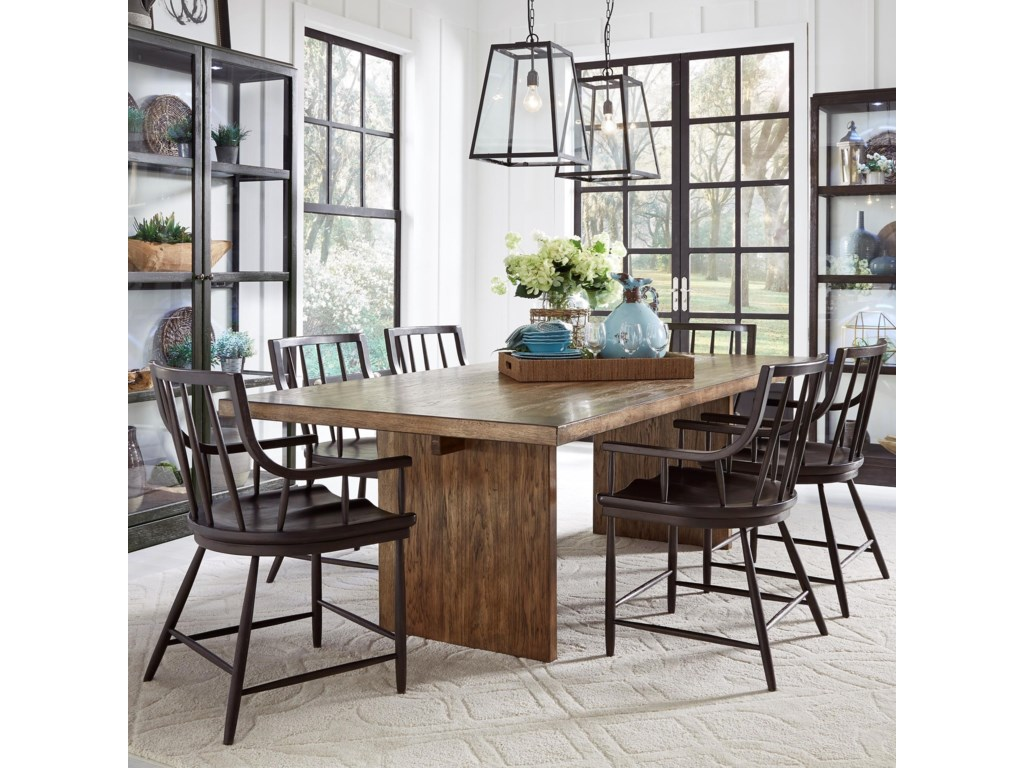 Pulaski Furniture The Art of Dining7-Piece Table and Chair Set