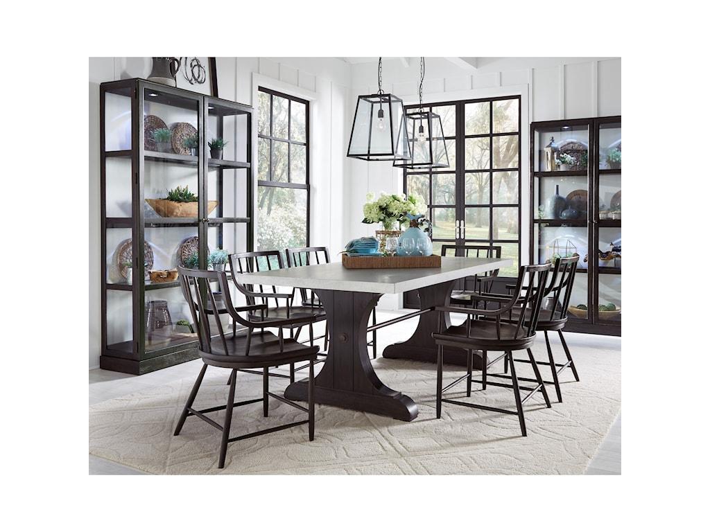 Pulaski Furniture The Art of DiningTrestle Dining Table