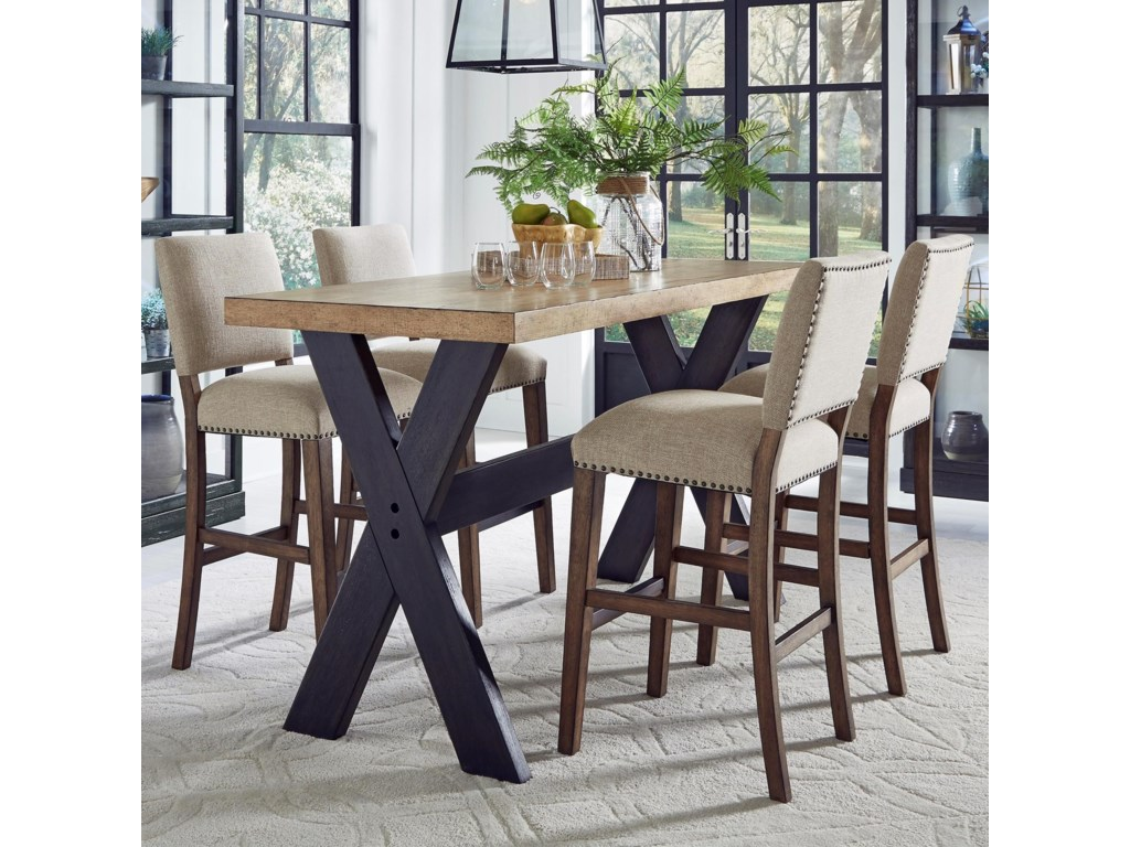 Pulaski Furniture The Art of Dining5-Piece Bar Table and Stool Set