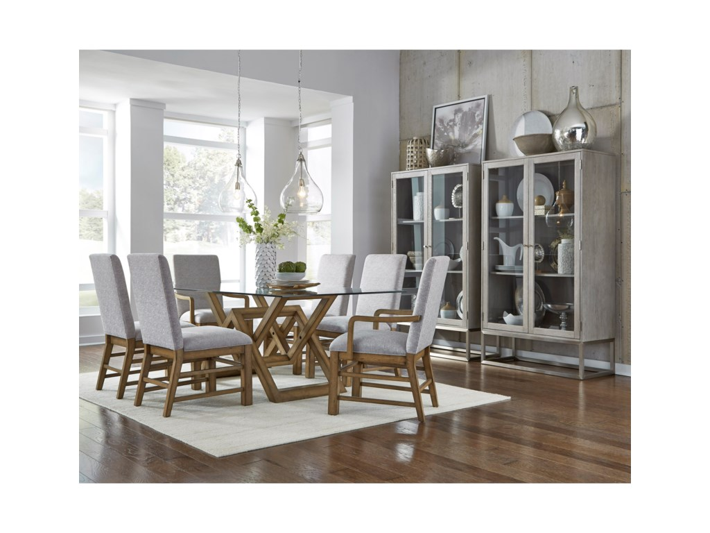 Pulaski Furniture The Art of DiningGlass Top Dining Table