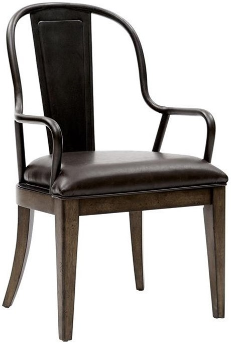 Pulaski Furniture Weston Loft Arm Chair with Upholstered Seat