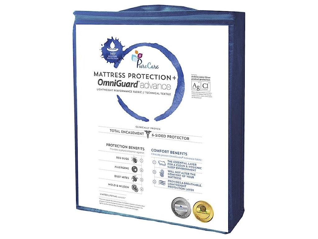 PureCare TOTAL ENCASE UNIVERSALQueen Mattress Protector