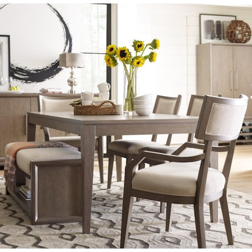Rachael Ray Home by Legacy Classic High Line Dining Set with Upholstered Bench