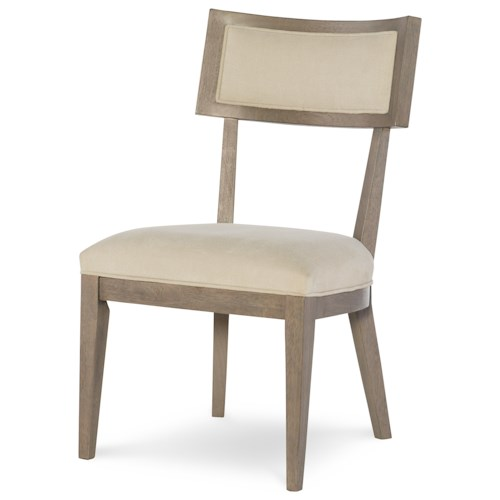 Rachael Ray Home Highline Klismo Side Chair with Upholstered Seat and Back
