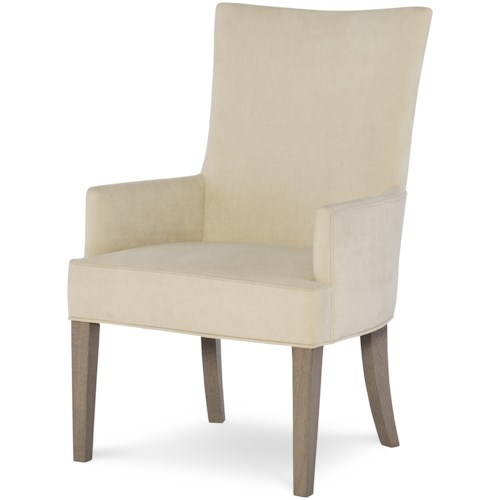 Rachael Ray Home by Legacy Classic High Line Upholstered Host Chair with Tapered Legs