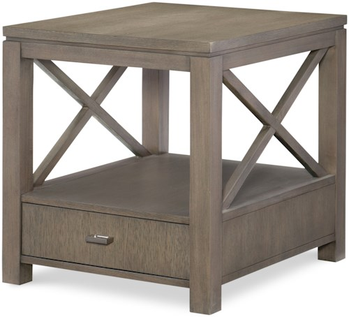 Rachael Ray Home High Line End Table with Drawer
