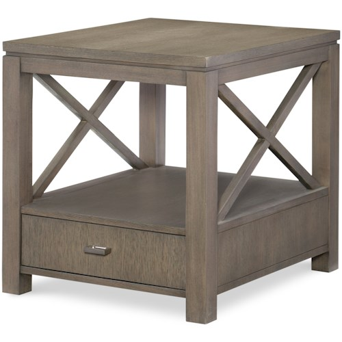 Rachael Ray Home by Legacy Classic High Line End Table with Drawer
