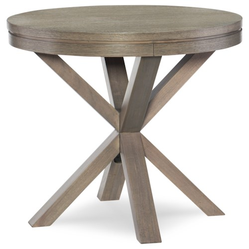 Rachael Ray Home Highline Round Lamp Table with Splayed Legs