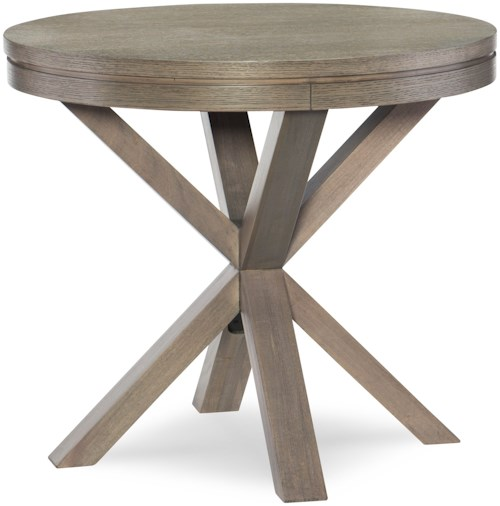 Rachael Ray Home High Line Round Lamp Table with Splayed Legs