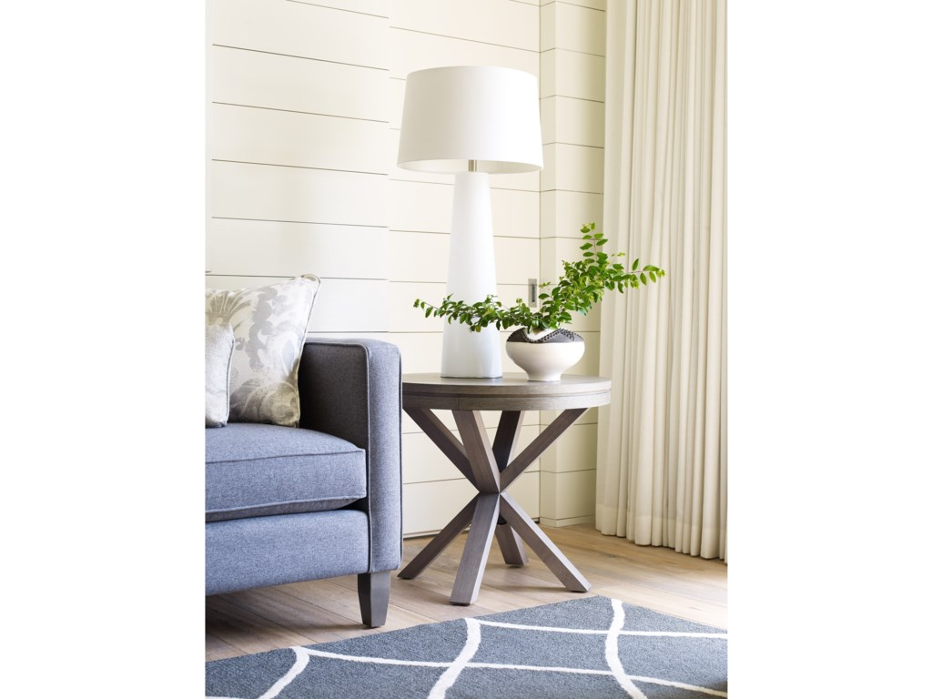Rachael Ray Home High LineRound Lamp Table