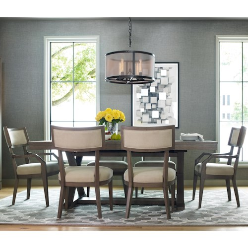 Rachael Ray Home by Legacy Classic High Line 7 Piece Dining Set with Trestle Table