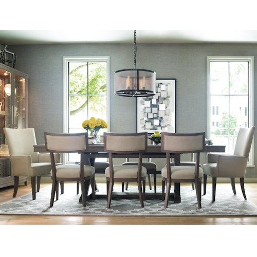 Rachael Ray Home Highline 9 Piece Dining Set with Trestle Table