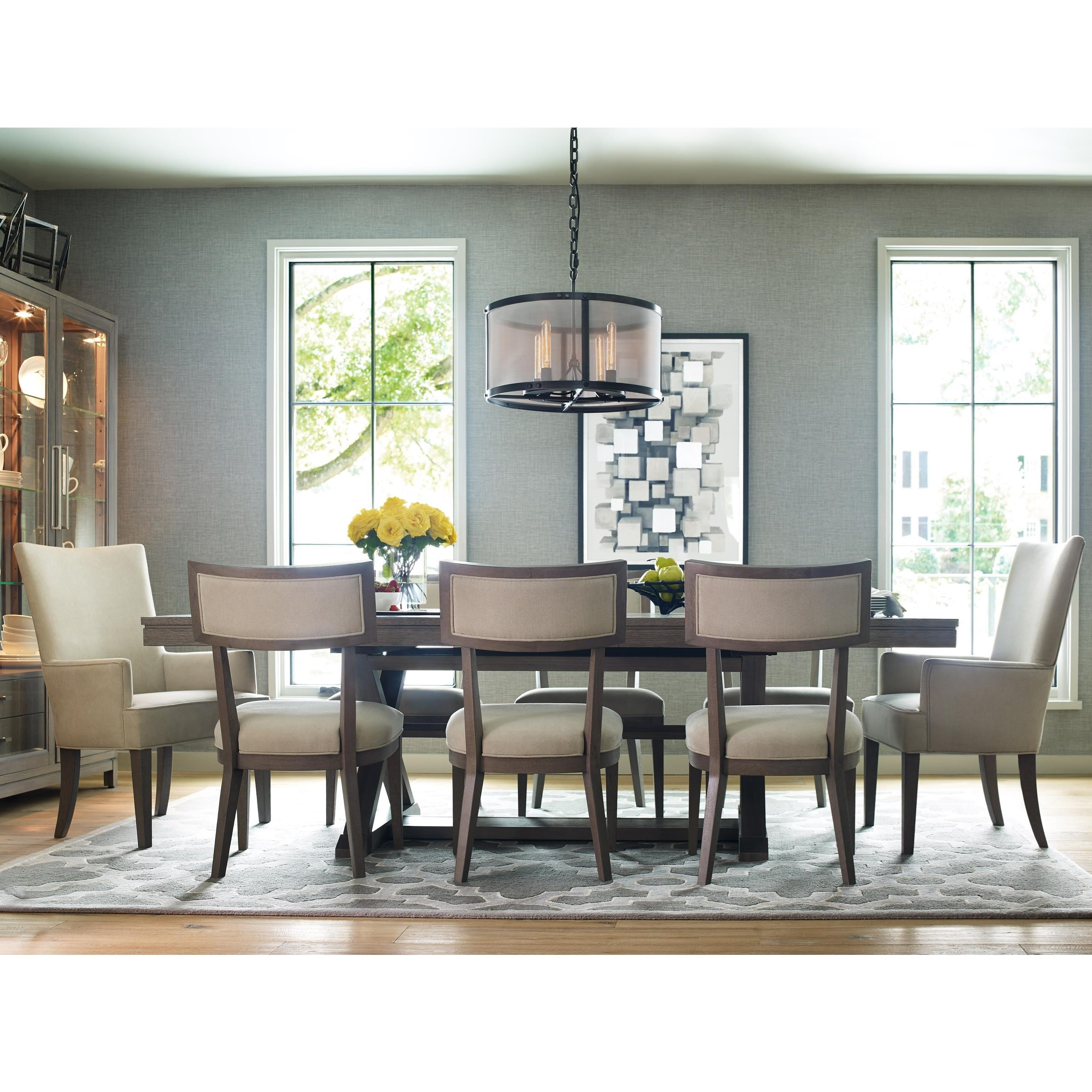 Rachael Ray Home Highline 9 Piece Dining Set With Trestle Table | Belfort  Furniture | Dining 7 (or More) Piece Sets