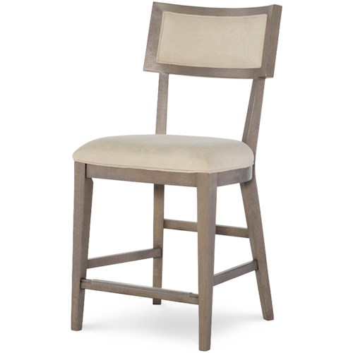 Rachael Ray Home by Legacy Classic High Line Pub Chair with Upholstered Seat and Back