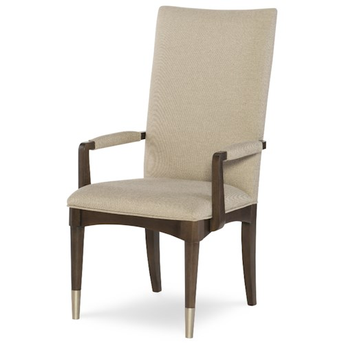 Rachael Ray Home by Legacy Classic Soho Mid-Century Modern Arm Chair with Upholstered Seat and Back