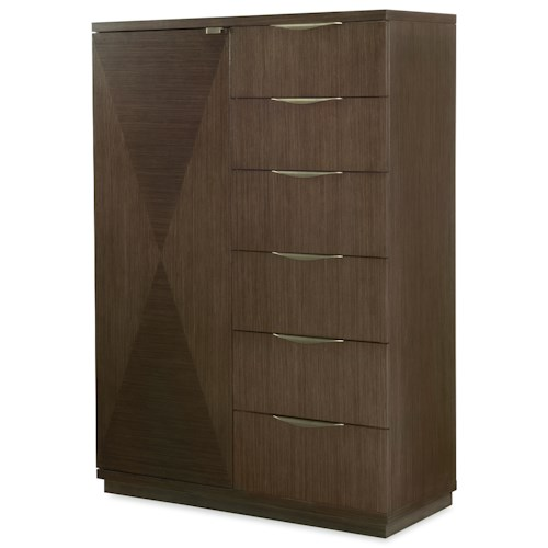 Rachael Ray Home by Legacy Classic Soho Mid-Century Modern Door Chest with Hidden Mirror
