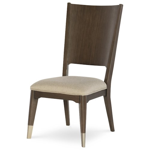 Rachael Ray Home by Legacy Classic Soho Mid-Century Modern Wood Back Side Chair with Upholstered Seat