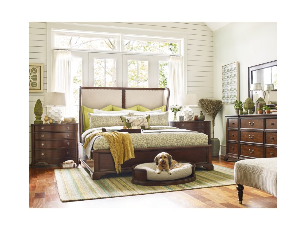 Rachael Ray Home UpstateQueen Upholstered Shelter Bed