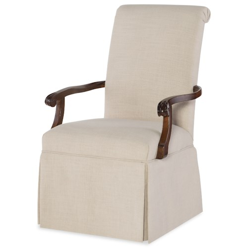 Rachael Ray Home by Legacy Classic Upstate Host Arm Chair with Upholstered Seat and Back