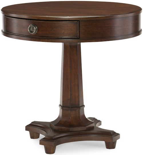 Rachael Ray Home by Legacy Classic Upstate Round Lamp Table with One Drawer