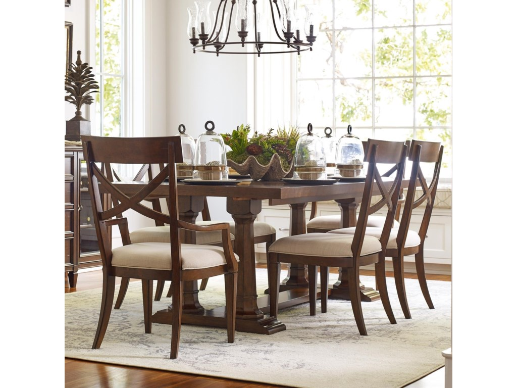 Rachael Ray Home Upstate 7 Piece Trestle Table Chair Set