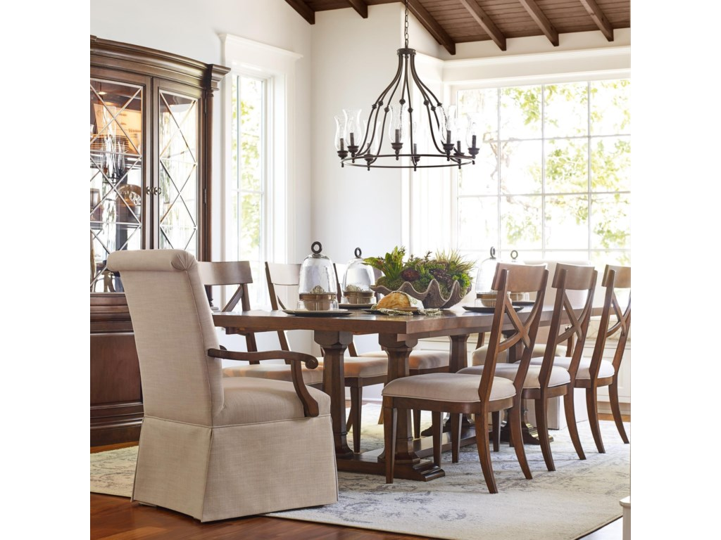 Rachael Ray Home by Legacy Classic Upstate 9 Piece Trestle Table ...