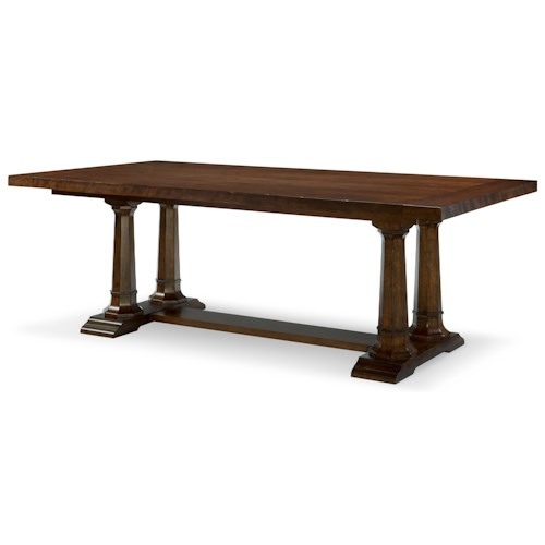 Rachael Ray Home by Legacy Classic Upstate Trestle Table with Leaves