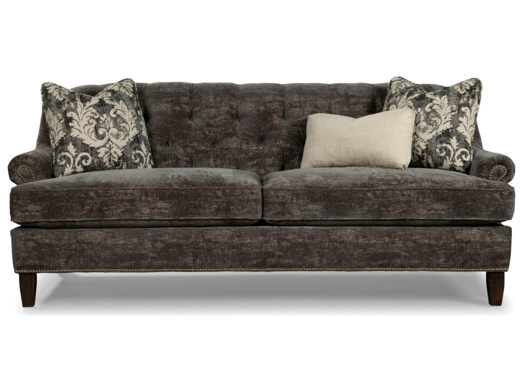 Rachael Ray Home by Craftmaster 7614 - 7615 - 7616Sofa w/ Brass Nailheads