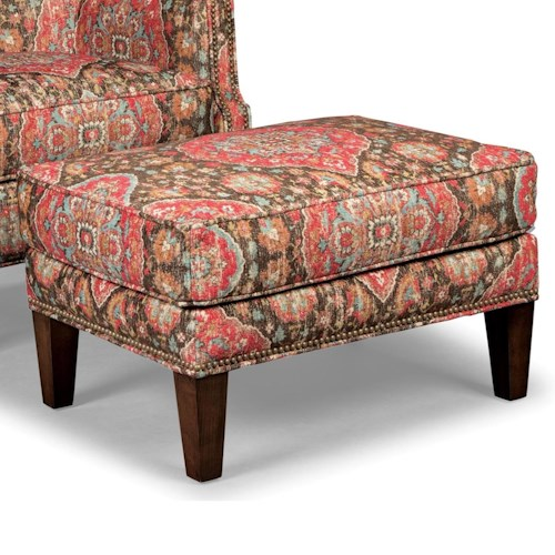 Rachael Ray Home by Craftmaster Upstate Ottoman with Light Brass Nailheads