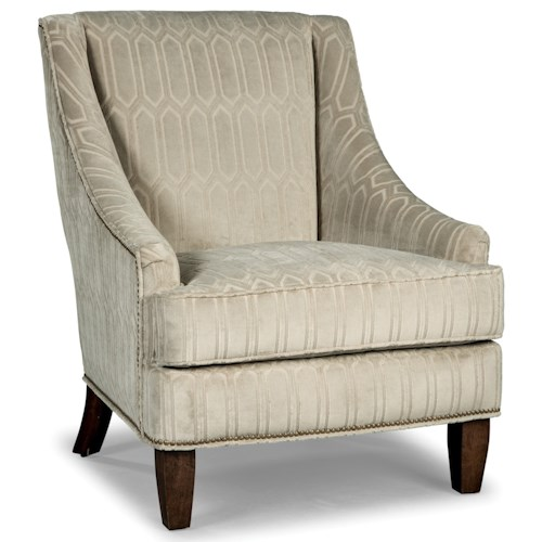 Rachael Ray Home by Craftmaster Upstate Transitional Chair with Light Brass Nailheads