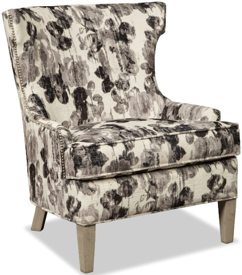 Rachael Ray Home by Craftmaster R0709-R0710-R0711 Modern Accent Chair with Pewter Nails