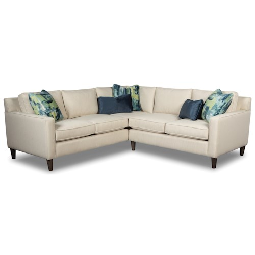 Rachael Ray Home by Craftmaster Soho Contemporary Corner Sectional with Toss Pillows