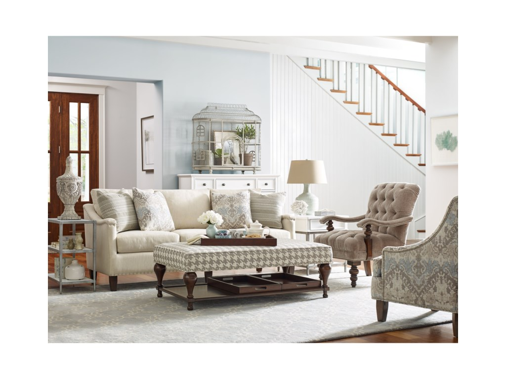 Rachael Ray Home by Craftmaster R7611 - 7612 - 7613Sofa w/ Pewter Nailheads