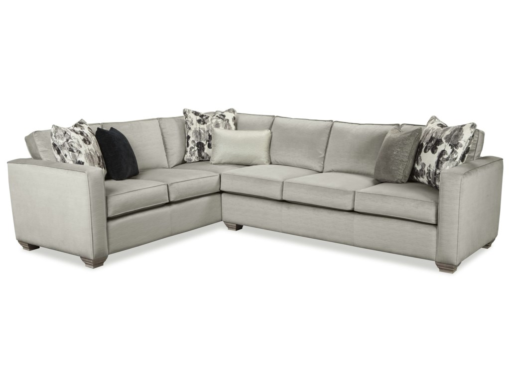 Rachael Ray Home by Craftmaster R7727 Two Piece Sectional Sofa with LAF Sofa Return