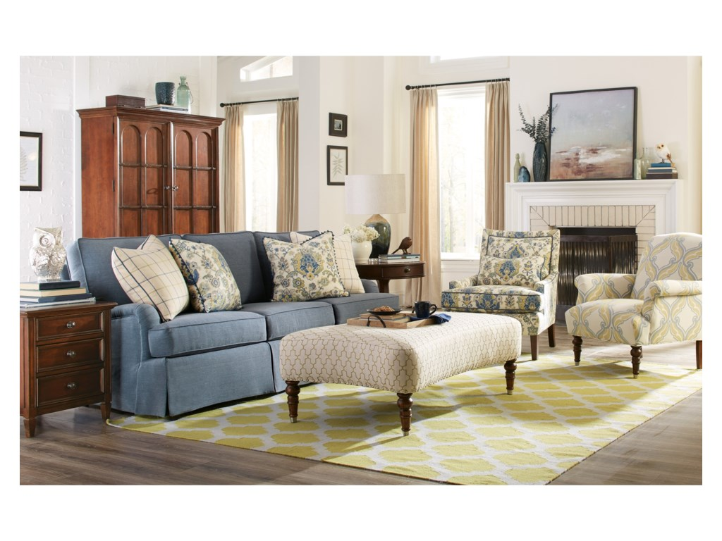 Rachael Ray Home by Craftmaster R9601Skirted Sofa