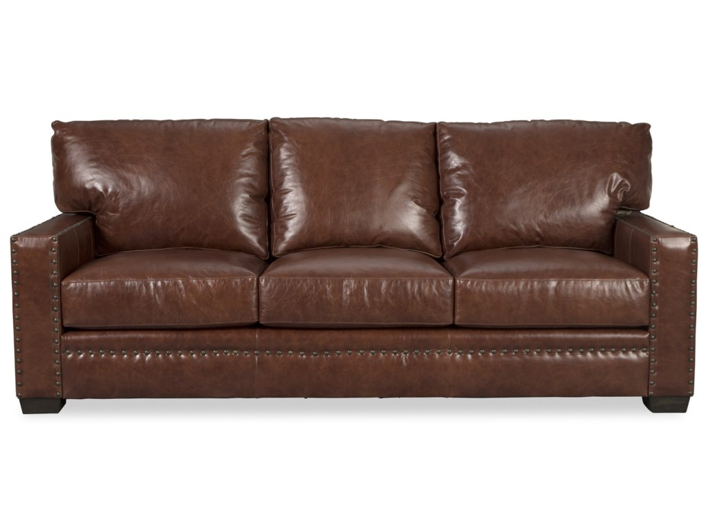 Rachael Ray Home by Craftmaster RL185750 Rustic Leather Sofa with ...