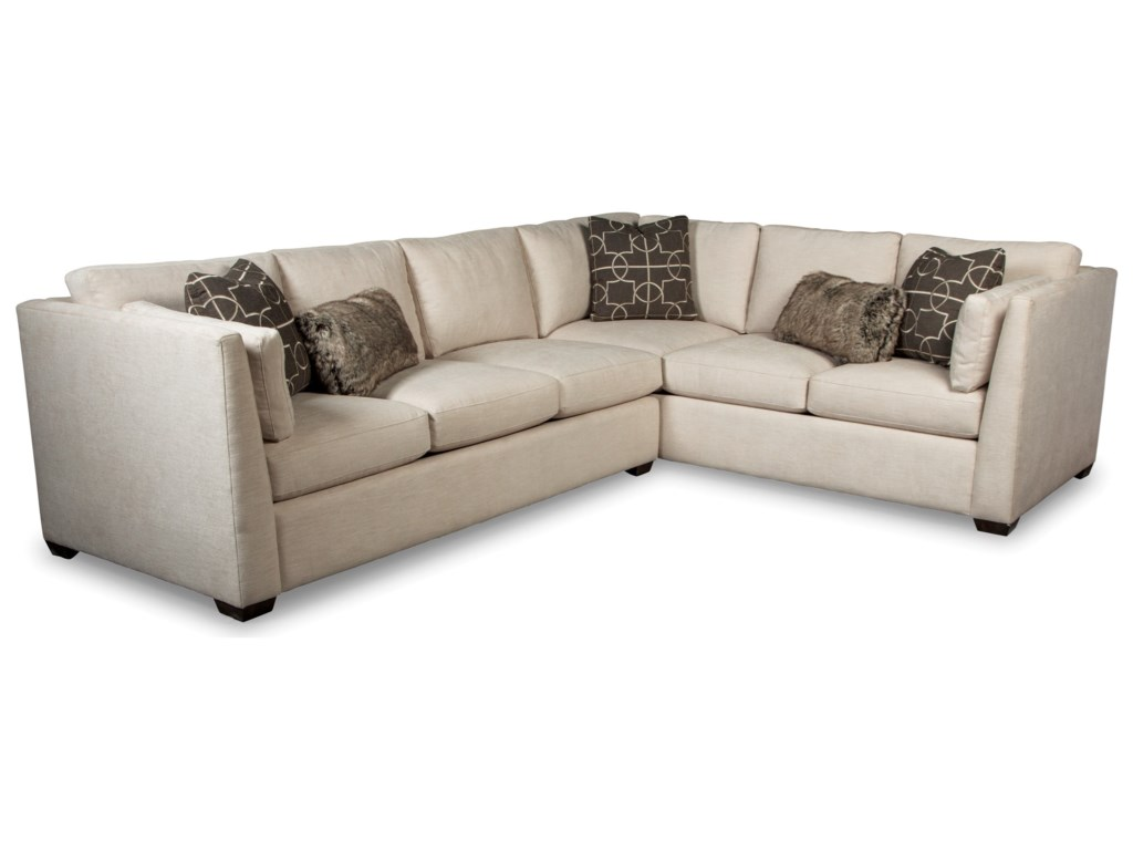 Rachael Ray Home by Craftmaster RR7601002 Pc Sectional Sofa w/ RAF Corner Sofa