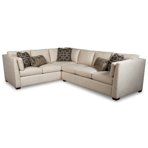 Rachael Ray Home by Craftmaster Highline Contemporary Two Piece Sectional Sofa with LAF Corner Sofa