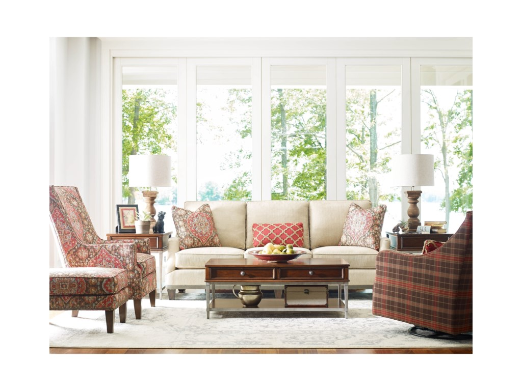 Rachael Ray Home by Craftmaster R7617 - R7618Sofa w/ Ribbon Trim