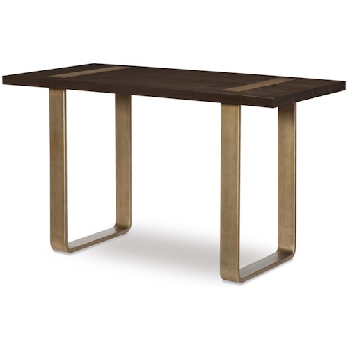 Rachael Ray Home by Legacy Classic Austin Contemporary Leg Writing Desk w/ Brass Finished Wood Accents