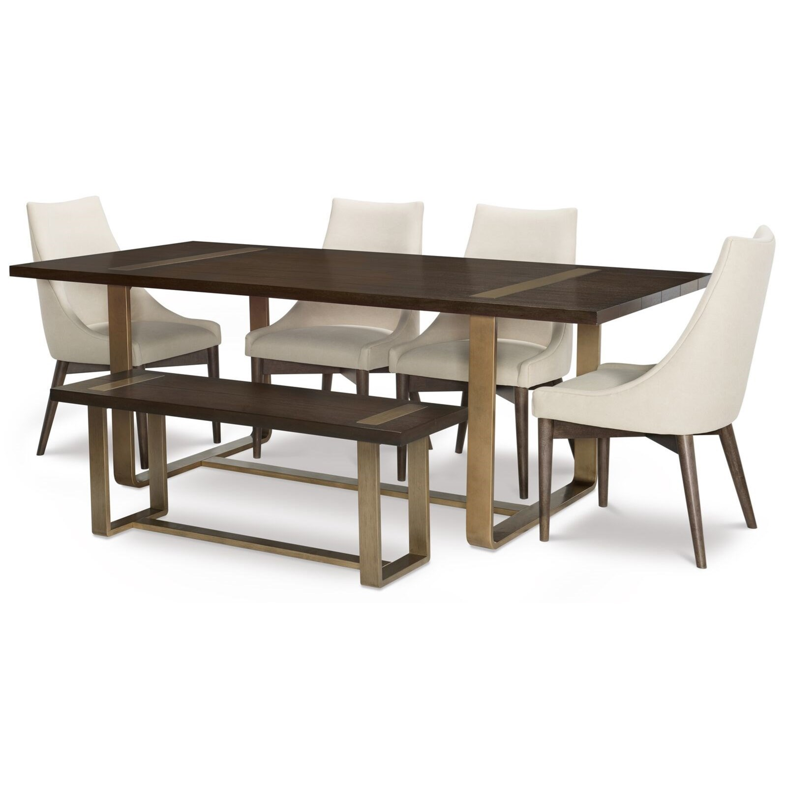 Rachael Ray Home By Legacy Classic Austin6 Piece Table And Chair Set With  Bench ...