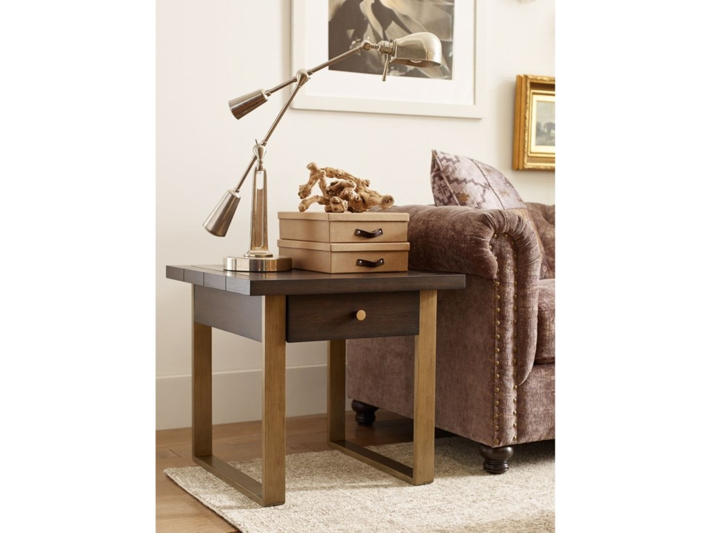Rachael Ray Home by Legacy Classic AustinSquare End Table w/ Metal Accent