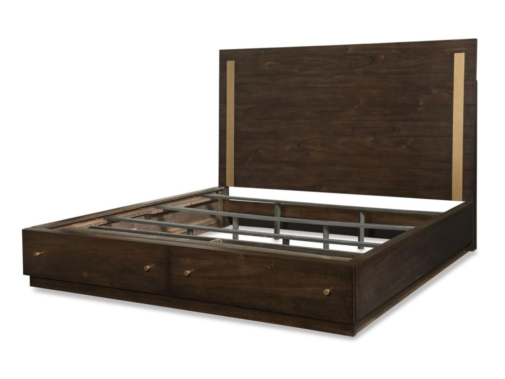 Rachael Ray Home by Legacy Classic AustinKing Panel Bed w/ Storage Footboard