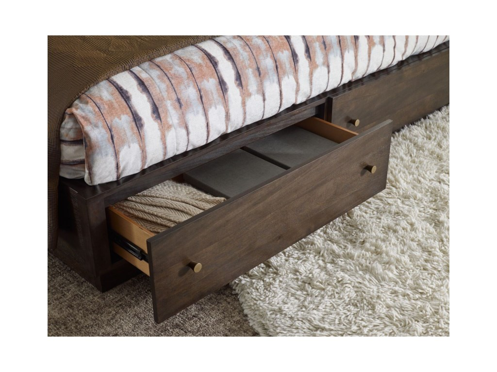 Rachael Ray Home by Legacy Classic AustinCA King Panel Bed w/ Storage Footboard