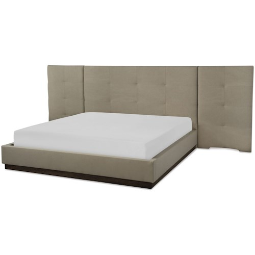 Rachael Ray Home by Legacy Classic Austin Contemporary King Upholstered Wall Bed with Panels